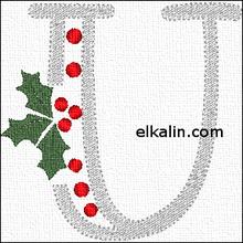 La lettre U de Noël