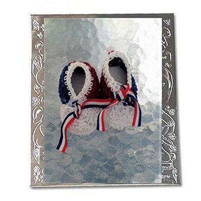 Chaussons bébés garçons patriotique bleu-blanc-rouge taille 3 mois tricoté mains @ jarakymini, création unique fait-main , layette fait-main mode automne-hiver 2017-2018