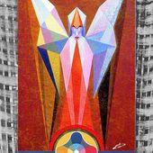 "Saatchi Art Artist: Michaël BELLON; Oil 2014 Painting ""Happy New Year 2015"""