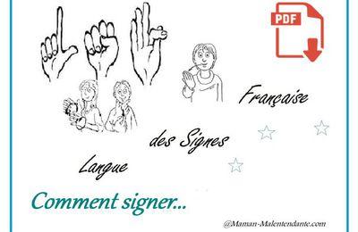 LSF – Comment signer - La rencontre – 2nde partie - PDF.