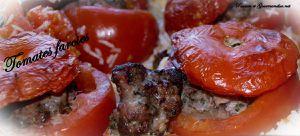 Tomates farcies sur lit de riz Basmati