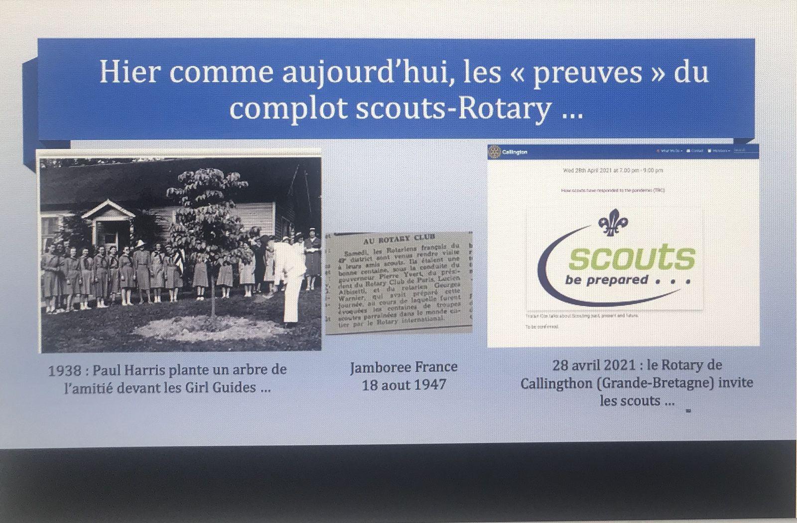 18 mars 2021 : le RotaryInternational et les Scouts de France,  acteurs d'un vaste complot mondial ?