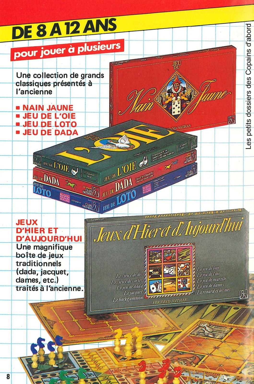Catalogue et pubs des jeux Nathan et Robert Laffont (1980-84) par Nath-Didile