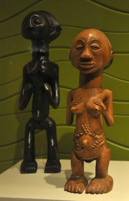 Río Congo, artes de África Central, reúne las expresiones culturales de 19 grupos étnicos creadas en los siglos XIX y XX. Objetos correspondientes a las tribus lega, bembe, fang, vuvi, kota, punu, adouma, eshira, luba, ngbaka, ngombé, tsogho, kwele, pomo, mbete, pnde suku, kongo y songye, se distribuyen en la Sala de Exposiciones Temporales del Museo Nacional de Antropología.- El Muni.