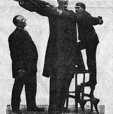 Mai 1905 : un géant nommé Hugo en démonstration à Moulins