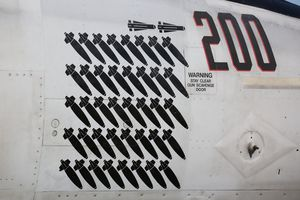 """Boeing F/A-18E Super Hornet """"Rhino"""" - VFA 211 """"Fighting Checkmates"""" CAG 2015 with mission marks"""