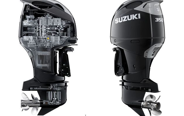 SCOOP - A 350 HP V6 outboard by Suzuki Marine !