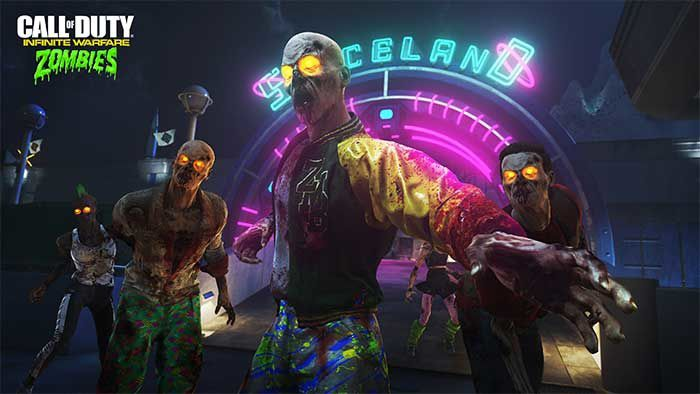 Jeux video: CoD Infinite Warfare mode coopératif Zombies in Spaceland ! #Activision
