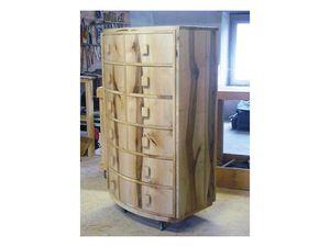 structure et dessin du bois, tiroirs poignées noyer, positionnement du plateau et des panneaux latéraux