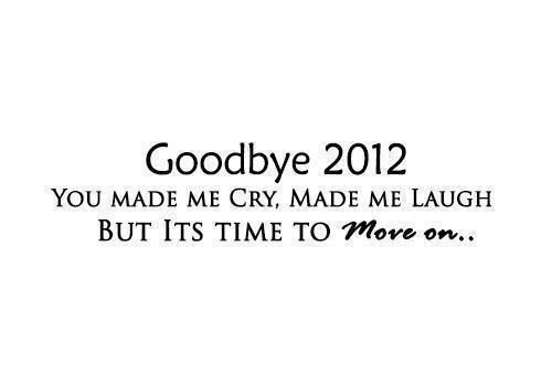 Bye Bye 2012, tu ne me manqueras point...