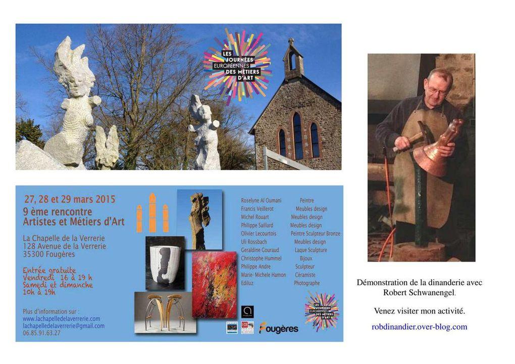 Journées Européennes des Métiers d'Art à Fougères en 2015