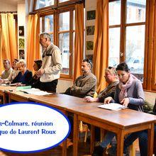 Villars-Colmars, réunion publique de Laurent Roux