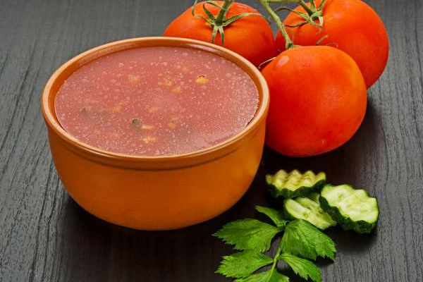 Gaspacho tomates et concombre