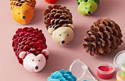 animaux pommes de pin