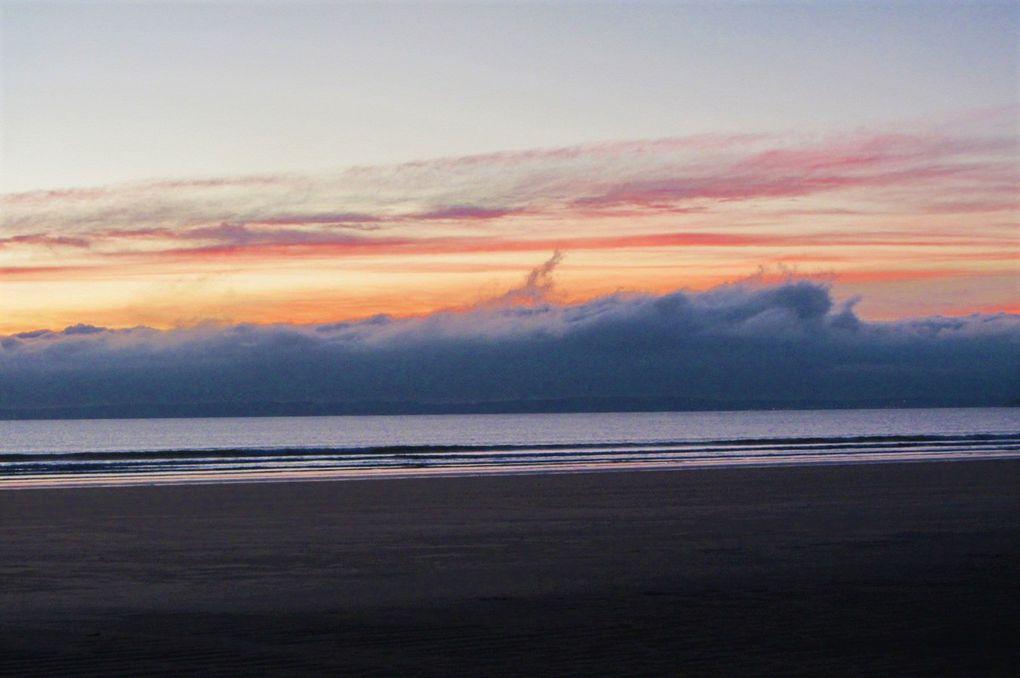 Coucher de soleil sur la mer d'Iroise