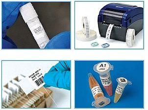 Laborbedarf: Etiketten für Röhrchen und Ampullen im Labor