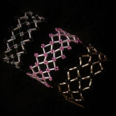bracelet en perles de rocailles et rocailles en tube
