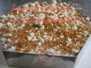 Entremet mousse aux chocolats/poires, sur base de biscuit de savoie de Gaston Lenôtre Jaclyne www.cuisineetgourmandise.fr