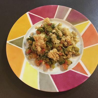 Crumble de légumes au curry