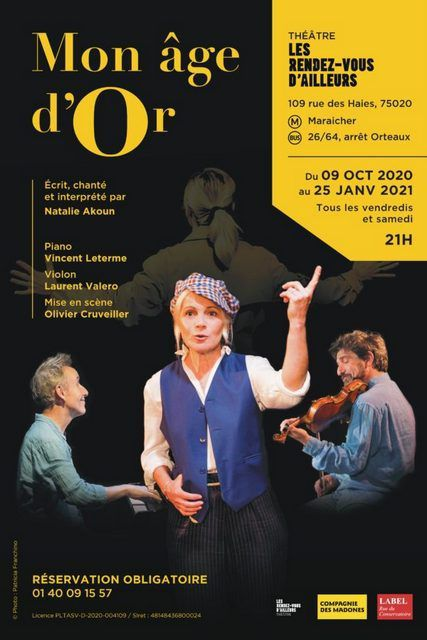 MON ÂGE D'OR  - Spectacle  Musical  -
