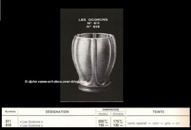 Vase Les Godrons Catalogue Verlys 1935