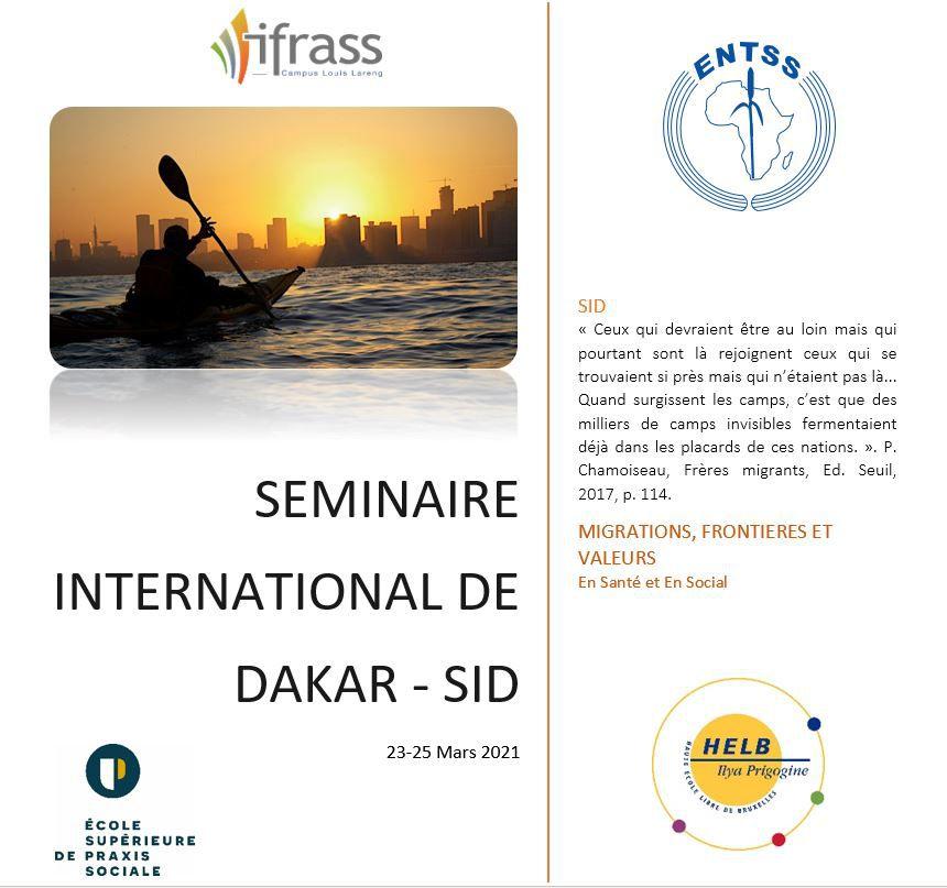 Du 23 au 25 mars 2021: 4ème Séminaire International de Dakar (en visioconférence)
