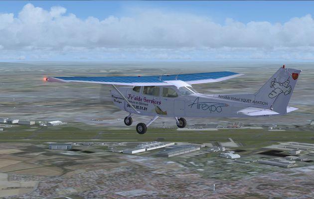 Petit vol test en Cessna 172 Airexpo...