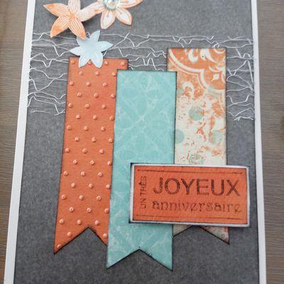 Carte anniversaire + pochette