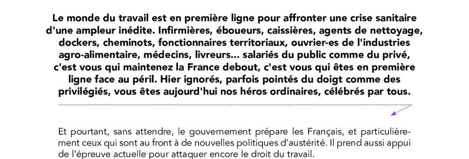 Adresse aux salarié.es - Parti Communiste Français - 3 avril 2020