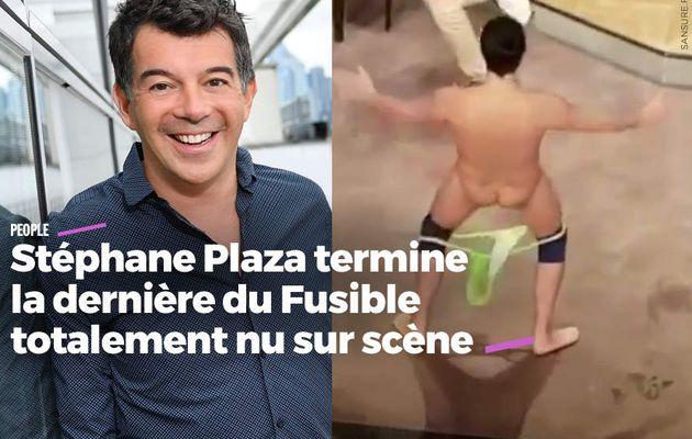 Stéphane Plaza termine la dernière du Fusible totalement nu sur scène #strip