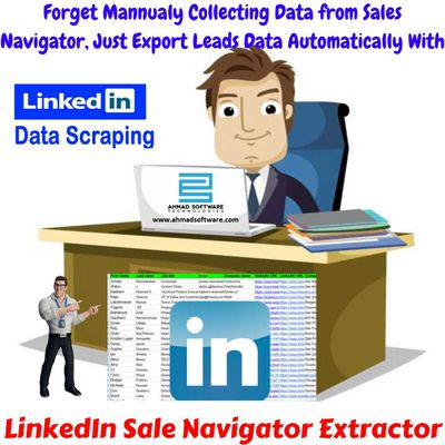Collecting leads data fast from the sales navigator