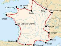 Si le Tour de France 2019 avait ignoré une grande partie de l'Ouest de la France , avec le Tour de France 2020 , c'est tout le Nord de notre pays qui est oublié....  à remarquer que le tracé du Tour en 1922 était vraiment plus conforme avec ce que l'on appelle Tour de France ...
