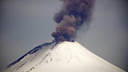 Villarica - plume of the explosion of 12/17/2020 / 5:16 p.m. - Sernageomin report