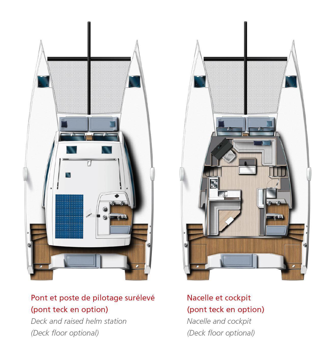 Plans d'aménagement du nouveau Catana Ocean Class