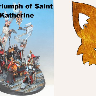 Commission painting: The trimuph of saint kathrine