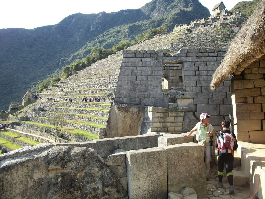 le Check point, l 'entrée du site, le site du Machu Picchu........