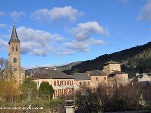 L'église vue depuis le château.
