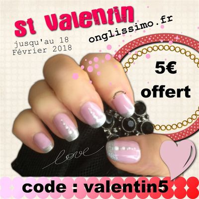 code promo St Valentin sur Onglissimo.fr