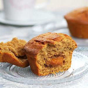 Muffins au café et coeur de caramel