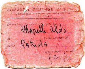 Aldo Mapelli, patriota