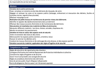 Offre emploi  ; Allos Agents polyvalent