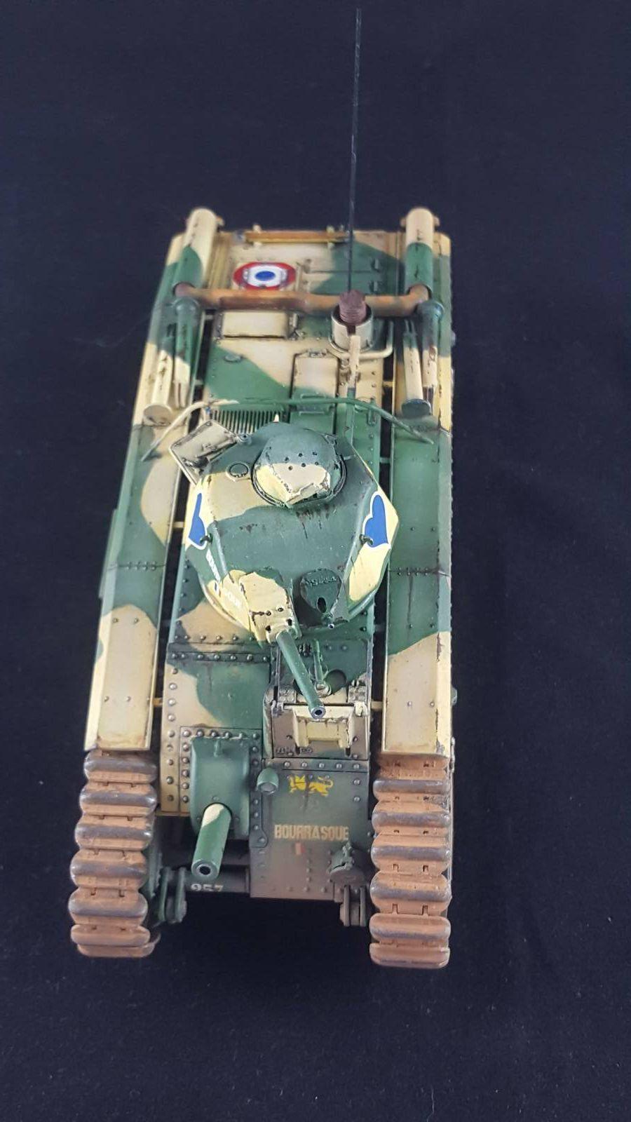 Char B1 bis, Tamiya 1/35, armée française mai-juin 1940,#charB1bis,#Tamiya,#B1bis,#arméefrançaise,#mai-juin40,#maquettes,#modélisme,#1/35,#frenchtankB11