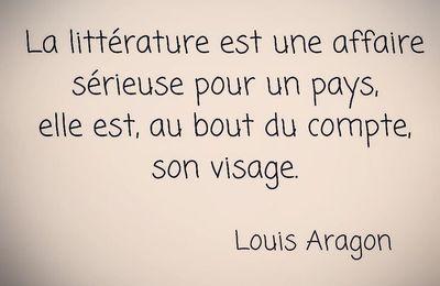 Citation de Louis Aragon sur l'importance de la littérature pour un pays