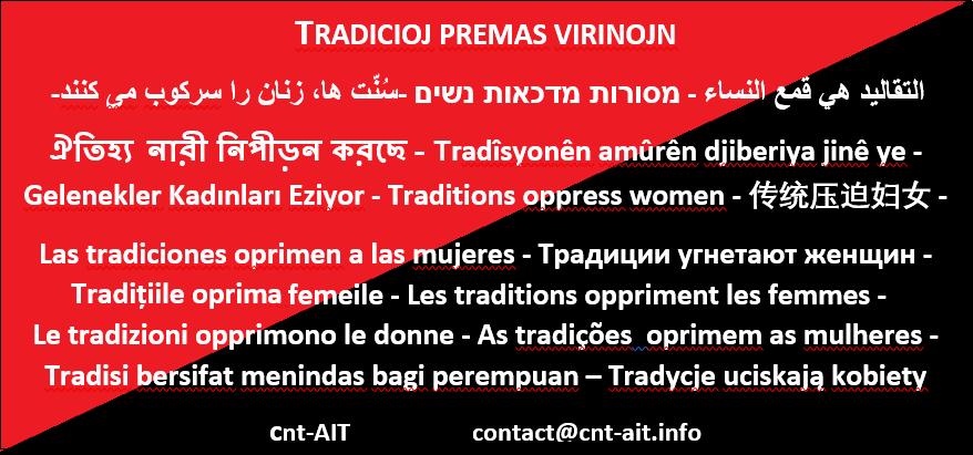 ★ LES TRADITIONS OPPRIMENT LES FEMMES