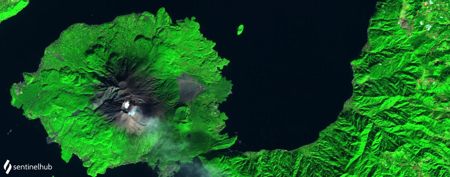 Sakurajima - 22.12.2020 - image Sentinel-2 L1C bands 12,11,4 - un clic pour agrandir