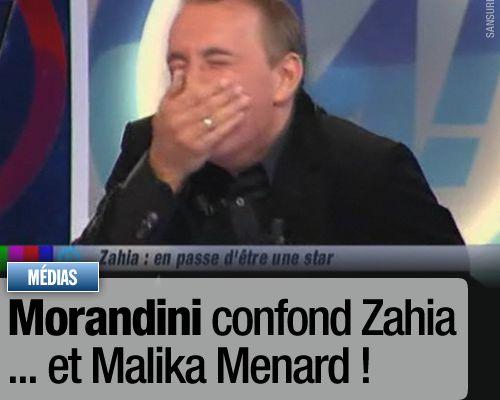 Morandini confond Zahia… et Malika Menard !