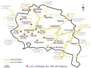 De Caunettes en Val à Rieux en Val  Mars 2020