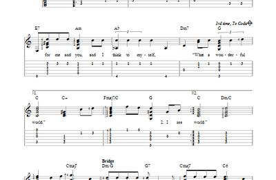 Partition guitare facile