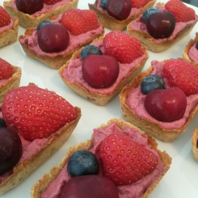 Tartelettes vegan aux fruits fruits rouges
