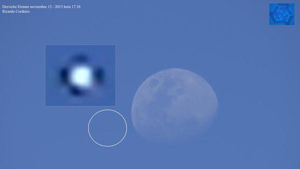 Ovni traversant la lune à Castelar en Argentine le 13 novembre 2013